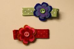 Such sweet little clips! All you need is felt and ribbon