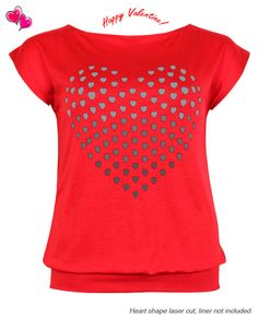 Laser Cut Valentine's Heart Top Plus Size 1X,2X,3X $10.00 Click Here: http://www.jasmineusaclothing.com