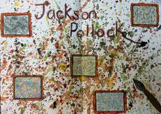 Yr9 Jackson Pollock research homework.