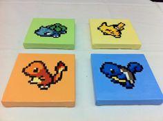 Pokemon 8bit Starters   Etsy