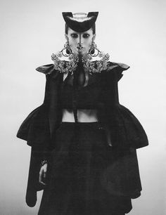 Goya (Interview) - styled by Ludivine Poiblanc (fashion), Paul Hanlon (hair) and Jean-Hughes de Chatillon (set); photographed by Fabien Baron, model Marie Piovesan cast by Michelle Lee for KCD.