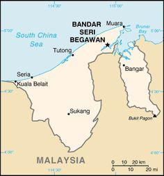 ブルネイの地図 ◆ブルネイ - Wikipedia…