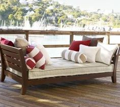 Chesapeake Daybed | Pottery Barn pillow inspiration for our daybed