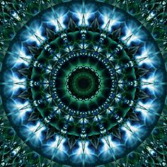 """Skylight"" - mandala by Christine Bassler, via fineartprint"