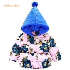 Children's Winter Jackets 2016 Fashion Hooded Baby Girls Cotton-Padded Coats Warm Thick Outerwear Kids Clothes Infant Clothing