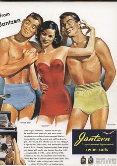 vintage Jantzen swimsuit ad1949 (not really feeling the yellow suit!) | Flickr