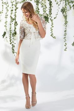 Gina Bacconi Lily Dress And Jacket Summer Mother Of The Bride Dresses, Spring Summer 2018, Occasion Dresses, Plus Size Dresses, Types Of Sleeves, White Dress, Chiffon, Bodycon Dress, Beige