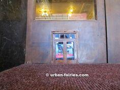 Urban Fairies. fairy doors, The Michigan Theater, Ann Arbor, MI. It has a mini movie screen that plays real movies on it!