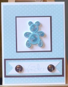 Quilled Bear Baby Card