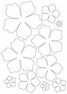 Draw and cut paper flowers. Color two flowers of the same color, so you will have pairs of flowers. Tell your mom to hide one flower from the pair in your bedroom and you will have to find all of them Felt Flower Template, Paper Flower Patterns, Paper Flowers Diy, Paper Roses, Handmade Flowers, Felt Flowers, Flower Crafts, Diy Paper, Fabric Flowers