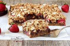 Chocolate-Strawberry Crumble Bars (paleo, grain-free, gluten-free, dairy-free)