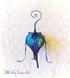 Portable Silk Lily Lantern with Color by littlewingfaerieart, $70.00
