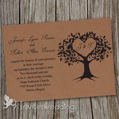 Cheap Vintage Brown Love Tree Wedding Invitations IWI249. Super reasonable price!!