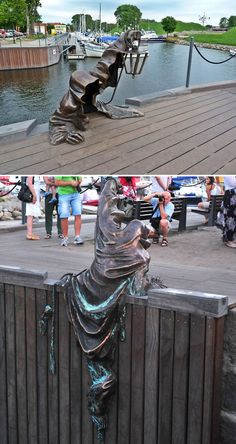 Funny pictures about Black Ghost Sculpture Win. Oh, and cool pics about Black Ghost Sculpture Win. Also, Black Ghost Sculpture Win photos. BLACK GHOST, KLAIPEDA, LITHUANIA Don't be alarmed by the menacing statue emerging from the water. Robin Wight, Photo Voyage, Wow Art, Public Art, Oeuvre D'art, Metal Art, Amazing Art, Awesome, Art Photography