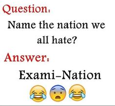 "If you want to get high score in exams you have to stay focus and attention of these ""Top Funny Minion Exam Quotes – Famous Funny Hilarious Memes and Pictures"". Exam Quotes Funny, Exams Funny, Cute Funny Quotes, Funny School Jokes, Very Funny Jokes, Crazy Funny Memes, Really Funny Memes, Jokes Quotes, Funny Relatable Memes"