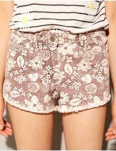 Cute Print Denim Cutoffs - Sexy Jean Shorts - $30