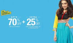 Grab or Gone - Top brands Women Clothing up to 70% Discount + Extra 20% OFF at Flipkart  #Women #Clothing #Fashion #Shopping #india #Flipkart