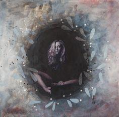oana reinterpretations-introspections mixed media/canvas 2018 50/50 cm