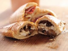 Freezer Pizza Pockets - could be easily made with wheat pizza dough