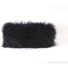 Mongolian Fur Pillow Black Fur Pillow Genuine Mongolian Lamb Black... (355 PLN) ❤ liked on Polyvore featuring home, home decor, throw pillows, plush throw pillows, square throw pillows, zippered throw pillows, lumbar throw pillow and black home decor