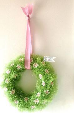 fun fur spring wreath