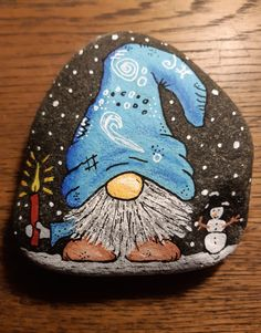 Watercolor Painting Techniques, Pebble Painting, Pebble Art, Stone Painting, Painted Rock Cactus, Painted Rocks Craft, Gnome Paint, Christmas Rock, We Will Rock You