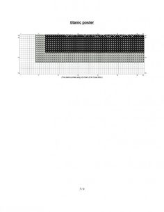 free cross stitch pattern White Star Titanic poster 5