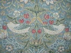 William Morris Strawberry Thief Slate Curtain Fabric Per Yard Genuine William Morris Prduct