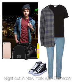 """Night out in New York with Cameron"" by autumnfarmer on Polyvore featuring Frame Denim, IRO, Hermès, Vans, Maybelline and Kate Spade"