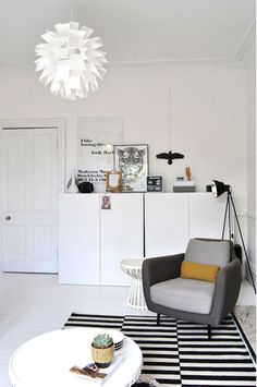 Stylish Scotland residence with a Nordic interior NORM 69 always classy and pure in style. Nordic Interior, Decor Interior Design, Modern Interior, Interior Decorating, Living Room Grey, Home Living Room, Living Spaces, Living Room Inspiration, Interior Inspiration