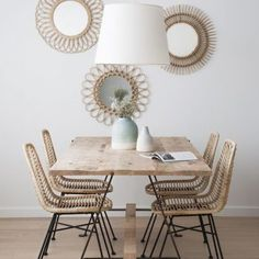 Simply Gorgeous Scandinavian Dining Room Ideas to Steal - Esszimmer Ideen Dining Room Walls, Dining Room Lighting, Dining Room Design, Dining Room Decorating, Best Dining, Small Dining, Cheap Home Decor, Home Remodeling, Interior Design