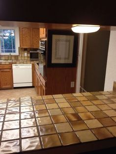 Part Kitchen Make Over Encore Countertops Tips And Helpful Hints For Lying On Tile Concrete Counters