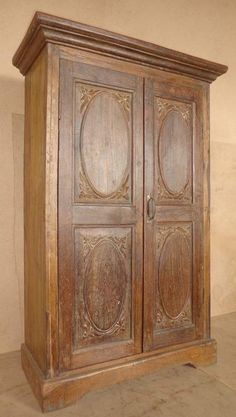 Antique Tall Teak Wood Cabinet From Designers Craft Tucson Arizona