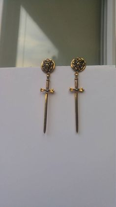 Lion Lannister  Game Of Thrones Inspired Lion Earrings Gold