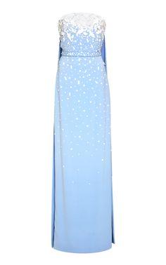 Get inspired and discover Oscar de la Renta trunkshow! Shop the latest Oscar de la Renta collection at Moda Operandi. Simple Dresses, Pretty Dresses, Beautiful Dresses, Long Dresses, Mood Designer Fabrics, Cape Dress, Event Dresses, Red Carpet Dresses, Fashion Wear