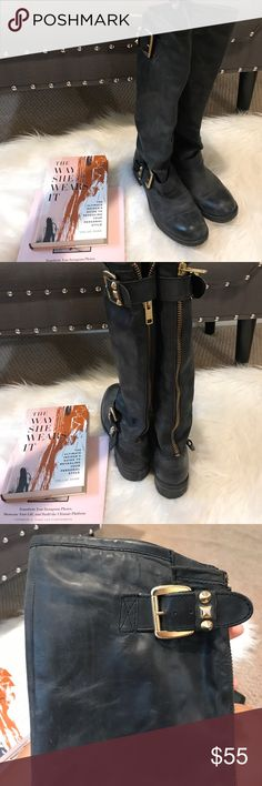 Steve Madden Knee Boots Condition is as pictured • Super cute and trendy for fall Steve Madden Shoes Combat & Moto Boots