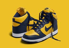 Nike Dunk High Michigan & UNLV Release Date | SneakerNews.com