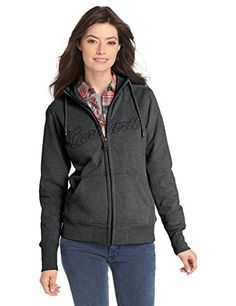 Carhartt Women's Clarksburg Zip Front Sweatshirt,Black Heather,Large- #fashion #Apparel find more at lowpricebooks.co - #fashion