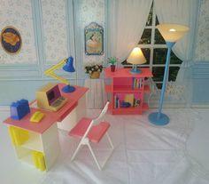 Vintage Pedigree Sindy Dolls House Desk Set Working Lights Suit Barbie to VGC | eBay