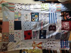 Memory Blanket made from my babies clothes.