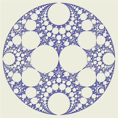 Fractal: Apollonian Gasket Attractor http://www.fractalsciencekit.com/tutorial/examples/apogasv.htm