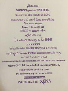 Xena warrior princess famous quotes #wordsofwisdom