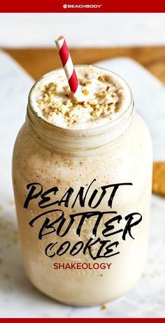 Peanut Butter Cookie Shakeology // healthy recipes // shakeology recipe // smoothies // peanut butter smoothie // drinks // beverages // snacks // desserts // 5 ingredients or less // high protein // Beachbody // BeachbodyBlog.com