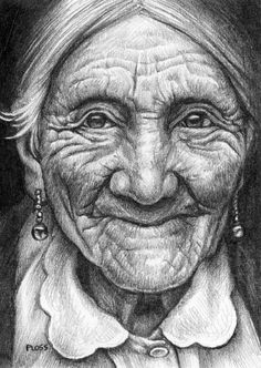 Minnie , Love this old woman's face .. Warm eyes !! Colouring for adults