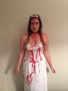 Art Excited to share this item from my shop: Carrie Bloody Prom Dress Halloween Scary Costume Carrie Halloween Costume, Horror Halloween Costumes, Horror Costume, Halloween Costumes For Teens, Halloween Dress, Halloween Party Decor, Halloween Inspo, Halloween 2017, Halloween Diy