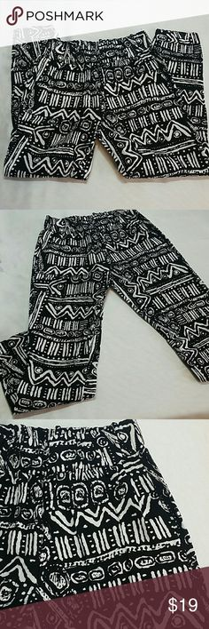 NWOT Black and white Native Harem pants Very nice and comfortable harem pants.  These are very nice item. This item is brand new and never used Pants