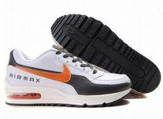 8GKDh Homme Nike Air Max LTD Blanc/Noir/Orange/B Vente Outlet