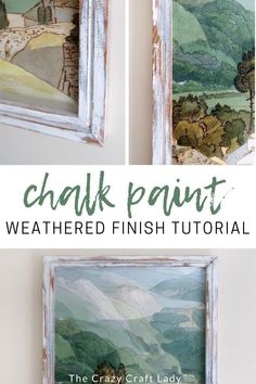 The EASIEST Layered, Chippy, Distressed Chalk Paint Tutorial - Grab some chalk paint and give an old piece of furniture or frame a brand new look, with this chippy, layered, distressed chalk paint finish. It's seriously SO EASY!