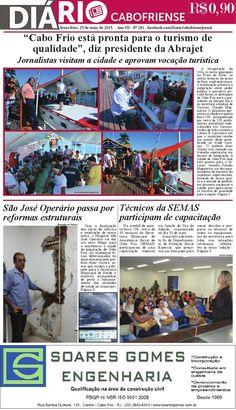 Folheie aqui a edição de sexta-feira, 29 de maio do DIÁRIO CABOFRIENSE. Boa leitura <3  Telma Flora | editora chefe <3