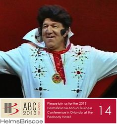 2005 - Held at the Paris Las Vegas Resort & Casino, Conference Chairman Peter Shelly makes a lively  appearance impersonating Elvis. #HBABC #WhyHB
